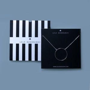 Lele Sandoughi circle necklace